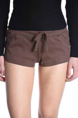 Pantaloni Scurti Bumbac Pieces Lalle Beach Coconut Brown