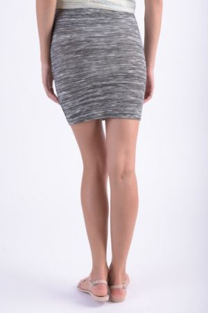 Fusta Scurta Vila Nianne Wrap Medium Grey Melange