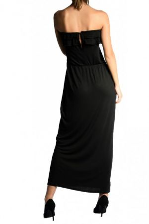Rochie Lunga Vascoza Sisters Point Axel Black