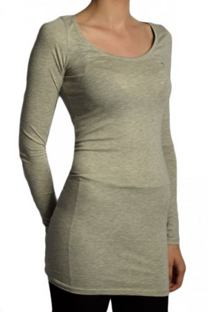 Bluza Dama Vila Officiel Long Light Grey Melange Light Grey Melange