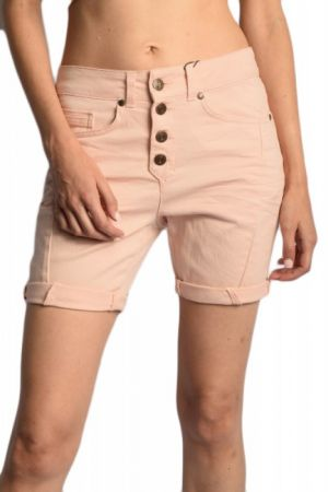 Pantaloni Scurti Bumbac Object Ilinda Canvas Rose Smoke