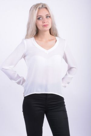 Bluza Vila Neck Snow White