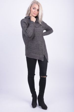 Cardigan Dama Sublevel Sonia Dark Grey