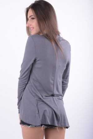 Cardigan Subtire Fara NasturiFresh Made Angie Middle Grey