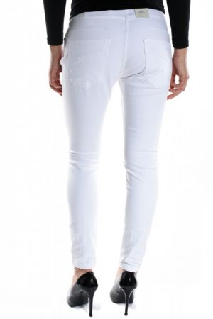 Pantaloni Lungi Bumbac Vero Moda Sixteen Anti Fit Bright White