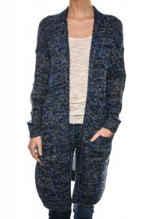 Cardigan Dama Vero Moda Siggy Open Black / Ash / Snow White