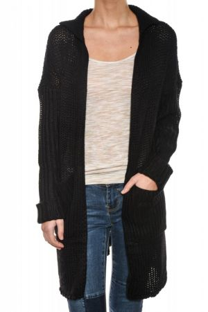 Cardigan Dama Noisy May Vera Open Knit
