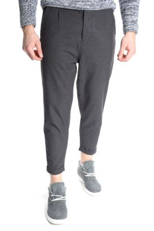 Pantaloni Bumbac Jack&Jones Robert Ankle Chino Anti Fit Gri Inchis
