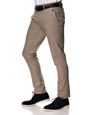 Pantaloni Selected Casual Slim Fit Sand