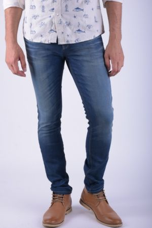 Blugi Barbati Jack&Jones Tim Original Jos 919 Blue Denim Slim Fit