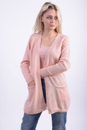 Cardigan Lung Vila Riva Knit Roz