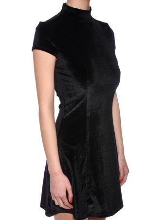 Rochie First And I Fishima Velvet Negru