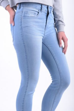 Blugi Dama Pieces Just Naomi 7/8 Rmw Light Blue Denim