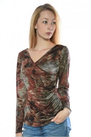 Bluza Dama Sisters Point Line Multi Red