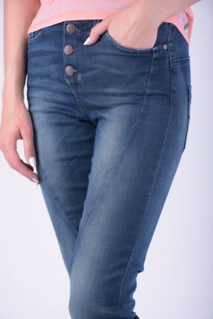Blugi Dama Object Linda Boyfriend Dark Blue Denim