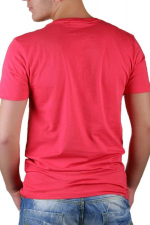 Tricou Barbati Selected New Single Super Deep V-Neck Coral
