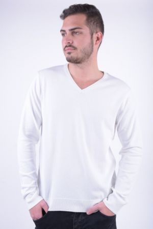 Pulover Barbati Selected Roma V-Neck Faded