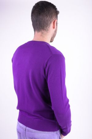 Pulover Barbati Selected Roma V-neck Deep Lilac