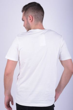 Tricou Bumbac Selected Jake O-neck Papyrus Alb