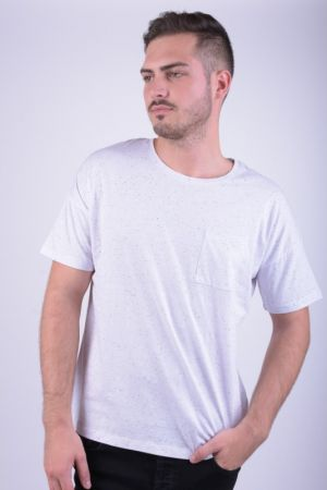 Tricou Bumbac Selected Sharun O-neck Alb