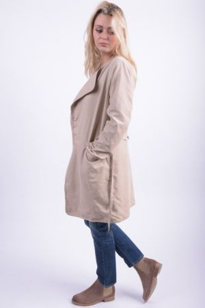 Trench Dama Vila Viemmely Chic Coat  Soft Camel