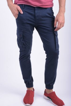 Pantaloni Casual Jack&Jones Paul Warner Anti Fit Bleumarin