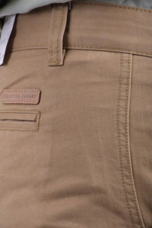 Pantaloni Bumbac Selected Three Paris Chino Antique Bronze