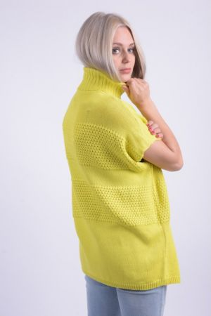 Poncho Bumbac Noisy May Milla Roll Neck Spring Galben