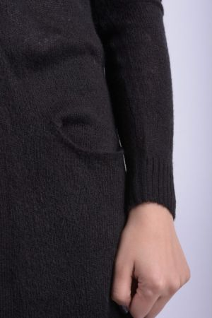 Cardigan Lung Subtire Vero Moda Willow Negru
