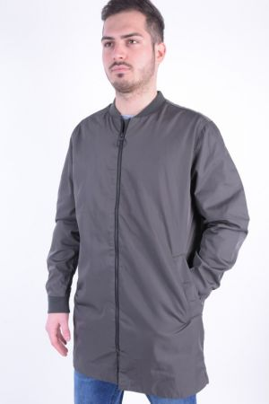 Geaca Lunga Bomber Selected Ben Coat Gri Inchis