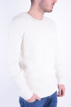Pulover Selected Shxcarlie Crew Neck Marshmallow