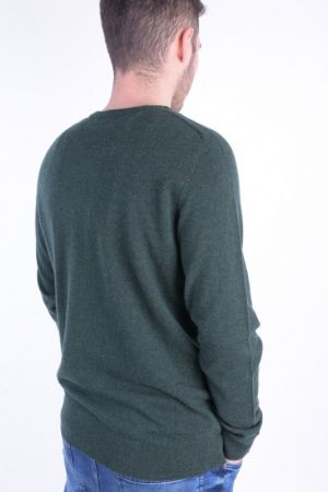 Pulover Selected Shdblade Silk Crew Neck Pine Grove Melange