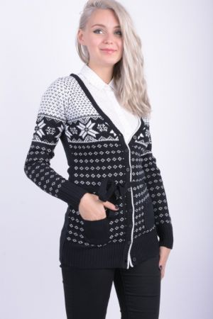 Cardigan Dama Fresh Made Olga Hedvig Negru