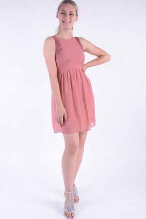 Rochie Vero Moda Vmluna Sl Short Dress Old Rose