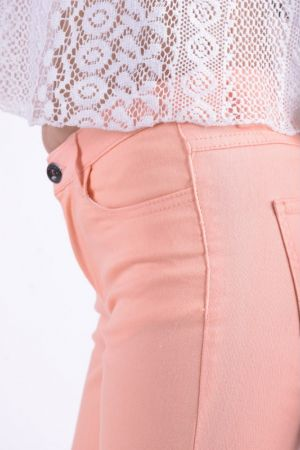Pantaloni Dama Vila Cleavo Low 5 Pocket Twill Wop Portocaliu