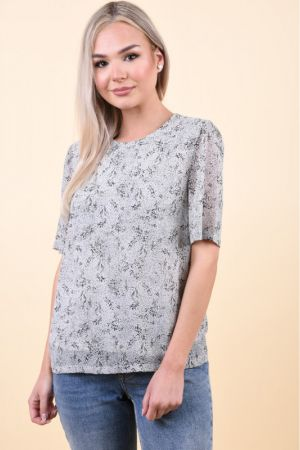 Bluza Pieces Mabel 2/4 Ground Gri