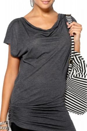 Top Vero Moda Figgo X-Long Top Gri
