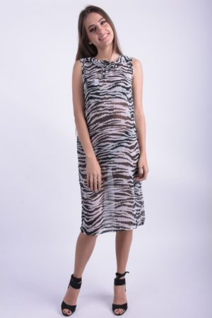 Rochie Noisy May Zebra Above Knee Animal Print