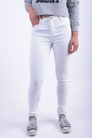 Pantaloni Lungi Bumbac Vero Moda Wonder Denim Bright White