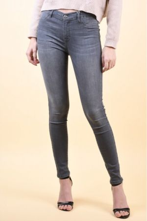 Blugi Selected Gaia High Rise Grey Denim