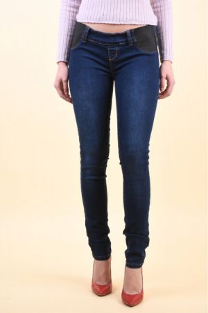 Blugi Mama Licious Lola Slim Dark Blue Denim