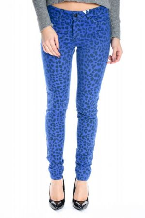Pantaloni Dama Vero Moda Flash Animal Blue