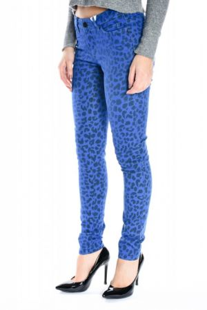 Pantaloni Lungi Bumbac Vero Moda Flash Animal Blue