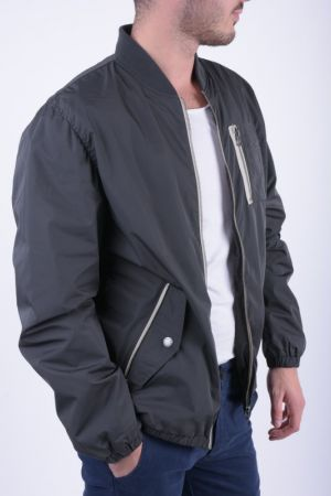 Jacheta Bomber Jack&Jones Close Baseball Verde Inchis