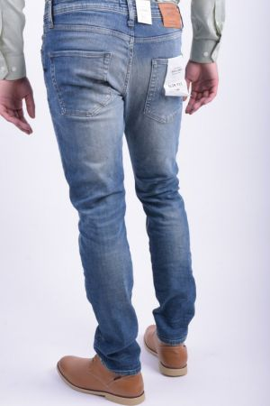 Blugi Bumbac Jack&Jones Glenn Original Jj 887 Slim Fit Blue Denim