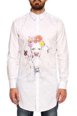Camasa Butterfly Lips Shirt White Half Of Me