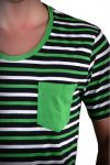 Tricou Barbati Selected New Finley Deep O-Neck Verde