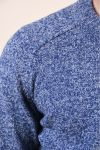 Pulover Selected Newcoban Wool Estate Blue Bone White