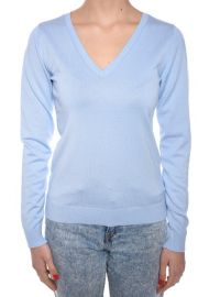 Pulover Dama Vila Gema Deep V-neck Chambray Blue