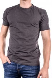Tricou Barbati Selected Gizmo Mid Grey Melange